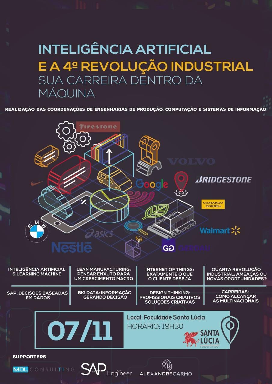 Palestra: Inteligência artificial e a 4ª revolução industrial: sua carreira dentro da máquina.