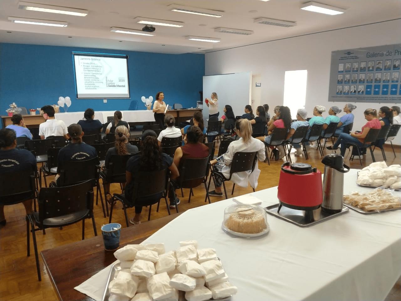 Curso de Psicologia da Faculdade Santa Lúcia participa com palestra da Campanha Janeiro Branco promovida pela Santa Casa de Mogi Mirim
