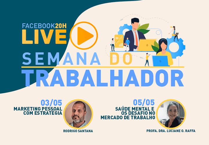 Professores da Faculdade Santa Lúcia estarão presentes nas lives da ACIMM em homenagem ao Dia do Trabalhador!